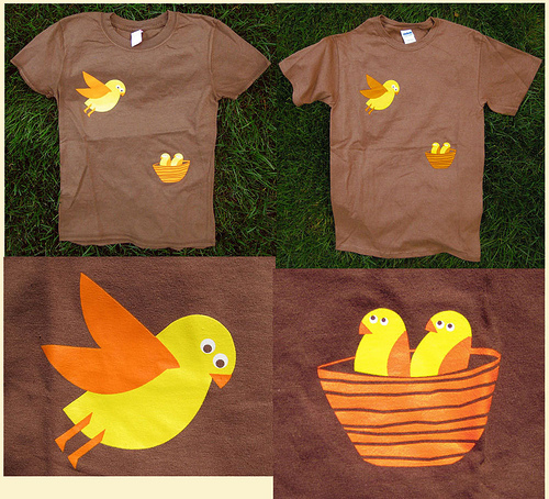 Nesting Brown Birdies, womens & mens/unisex tees.