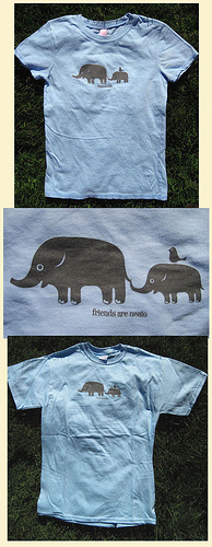 Elephant & Bird Friends Are Neato, womens & mens/unisex.