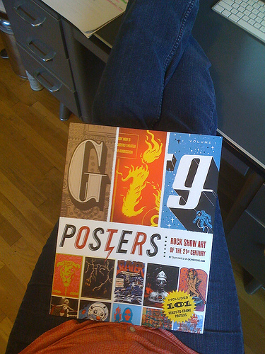 Thoughful oversized, yet lap-fitting dimensions of the new Gig Posters Vol. I book.
