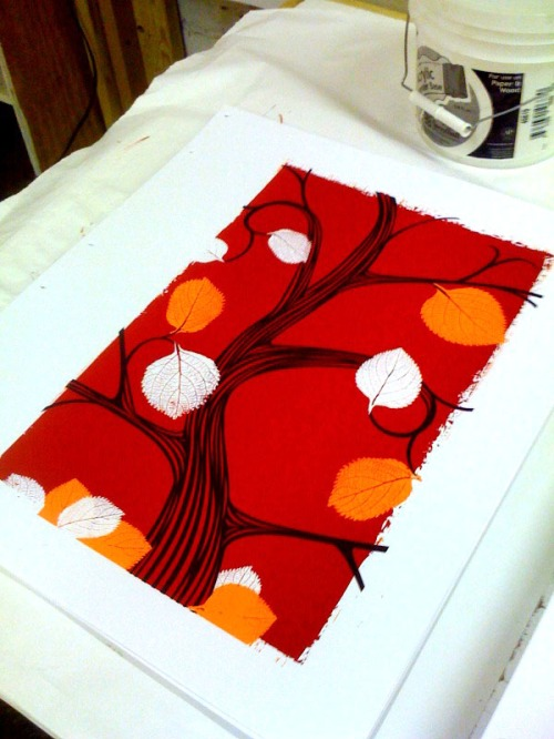 3rd color, the brown of the tree. This is where I started thinking about splitting the edition in two.